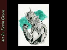 Lucha Uunderground Drago (speed painting) AAA