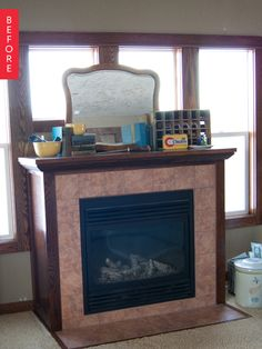 Before & After: The Totally Transformed, Under $50 Fireplace Makeover | Apartment Therapy