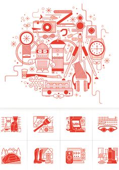 Wired Magazine Illustrations and Icons