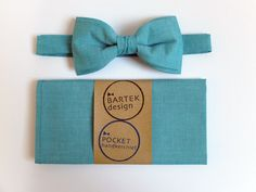Men's Wedding Set Pre Tied Bow Tie and Pocket by BartekDesign, €32.00