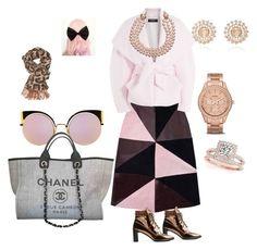 """Pink Hair"" by betty-jean on Polyvore featuring Florence Bridge, Balmain, Allurez, Chanel, Stuart Weitzman, Fendi, FOSSIL, Charlotte Russe and Nam Cho"