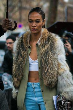Joan Smalls Winter fashion