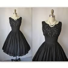 black 50's dress - Google Search