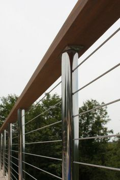 Stainless steel fence railing interesting
