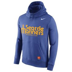 Seattle Mariners Nike Cooperstown Collection Hybrid Pullover Hoodie - Royal