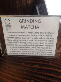 How's #matcha made? This little sign covers it. Found in #vancouver.
