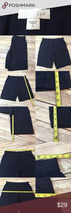 💄Size 6 J. Jill Navy Blue Casual Shorts Stretch Measurements are in photos. Normal wash wear, no flaws. C3/24  Ask about a bundle discount on all items that are not ⏰Flash Sale items! I ship everyday. I always package safely. If I run out of boxes, I will use priority bags over a polymailer bag. If you prefer to only receive this great item in a box, please let me know! Thanks! J. Jill Shorts