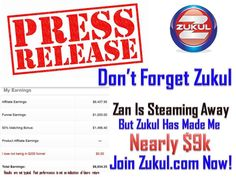DON'T FORGET ZUKUL - JOIN THE MOST FORWARD THINKING ONLINE BUSINESS IN 2016! Zukul.com THIS IS OUR 'HUB'  https://zukuladnetwork.com/ OUR REV SHARE ON STEROIDS!   JOIN US - Register Now - It's FREE - FINANCIAL FREEDOM IS HERE!  Be Part Of Our 'Family' https://www.facebook.com/groups/OneLinkFamily/  AND - JOIN OUR 'Official Zukul Ad Network Group' NOW?  Get over there Now - It's packed with info that will HELP YOU!  ***COME AND SEE OUR INCOME PROOF'S…