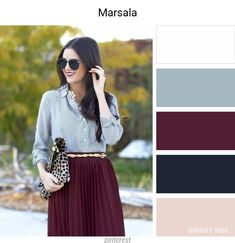Color Combinations - Marsala