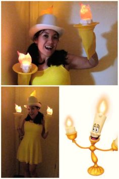 Candle Stick costume! Style DIY costumes with this super fun, easy tool (WiShi). It's a styling website where you style people's real clothing in their virtual closets. #Fashion #Style #Costume #Halloween #DIY Connect via Facebook for free in seconds. ♥