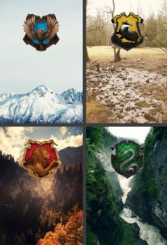 Hogwarts House landscapes.