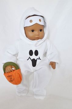 Halloween Costume 4 piece Ghost Set for 15 inch Bitty Baby /& Twin  Doll Clothes
