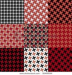 Houndstooth is the name of the game.