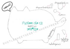 Pusheen the Cat Plush template giveaway