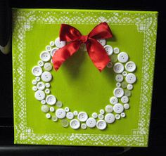 Hems and Haws: Button Wreath!