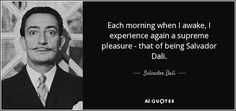 Es la cita de Dalí.