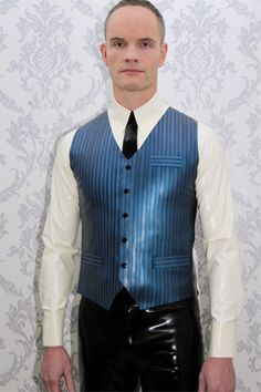 Textured Stripe Classic Waistcoat by www.breathless.uk.com