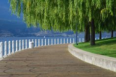 Grand Delta boardwalk along Okanagan Lake, Kelowna BC The Places Youll Go, Places To See, Wonderful Places, Beautiful Places, Waterfront Property For Sale, Vancouver City, Western Canada, O Canada, Alaska Cruise