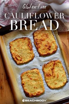 Cauliflower bread? Yes, please. Check out this delicious way to make bread that is gluten free and low carb. best gluten free recipes // cauliflower recipes // how to make bread // healthy bread recipes // 21 day fix // Beachbody // Beachbody Blog