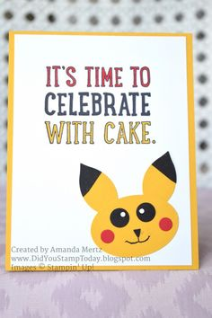 Pikachu Birthday Punch Art by mandypandy - Cards and Paper Crafts at…