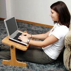 laptop-bed-desk Tap The Link Now To Find The Gift fb.me/ - Laptop - Ideas of Laptop - laptop-bed-desk Tap The Link Now To Find The Gift fb. Diy Laptop Stand, Laptop Desk For Bed, Lap Desk, Table Portable, Laptop Screen Repair, Small Wood Projects, Work Desk, Woodworking Projects Diy, Wood Design