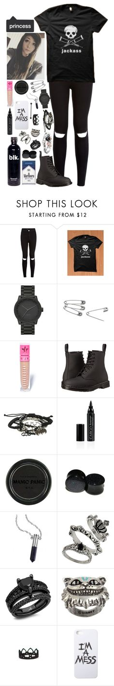 """""""~~my taste of music is your face~~"""" by we-are-the-wild-ones ❤ liked on Polyvore featuring LEFF Amsterdam, Jeffree Star, Dr. Martens, CARGO, Manic Panic, Bullet, Disney Couture and LAUREN MOSHI"""