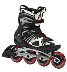 b4832c8733a Amazon.com : K2 Skate VO2 90 Pro Inline Skates, White/Black/Red, 11.5 :  Sports & Outdoors