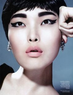 The New Hollywood Vogue Chine Beauty Story is Retro-Inspired #makeup #avantgarde trendhunter.com