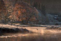 River Brathay (Cumbria, England) by Wolfy pics on Autumn Photography, Amazing Photography, Landscape Photography, Better Photography, Autumn Lake, Winter Love, Winter Scenery, Fall Pictures, Fantasy Landscape