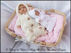 """Saco de dormir para 5 y 8 """"patrón Chubby Berenguer muñecas de tejer, berenguer"""
