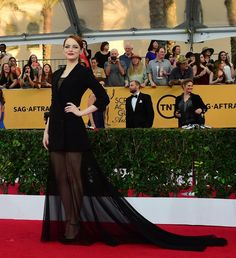 Emma Stone Is The Most Flawless Person At The SAG Awards. Seriously, this woman is ridiculous.