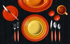Check out my Colorama by Fiesta® customized table setting featuring the 2014 color Poppy!!
