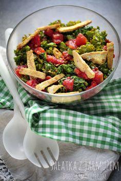 Kale Salad, Pasta Salad, Wok, Lunch, Ethnic Recipes, Crab Pasta Salad, Eat Lunch, Kale Salads, Lunches