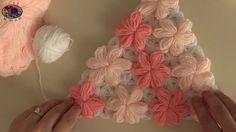 Çiçek Desenli Üçgen Lif Yapımı | Örgü Modelleri