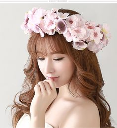 Cheap party screw, Buy Quality hairband flower directly from China party trade Suppliers: New arrival romantic white flower head garland Wreath hairwear bridal flower girl kid  wedding party christmas  free shi
