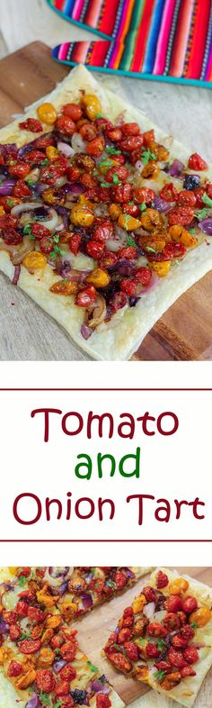 Do give this Tomato and Onion Tart a try. The tomatoes lend it's tartness to the pie while the onions gave flavor to it and obviously cheese makes everything better!