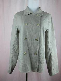 Eileen Fisher Women's Blazer Jacket Double Breasted Taupe Tan Textured Medium | eBay $44.95