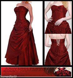 Shipping worldwide!!  abito da Sposa Cerimonia donna wedding dress Bordeaux Nuovo con stola 38 40 42 S