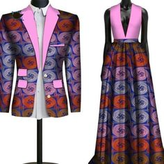 African Couple Clothing Lovers Outfit Wedding Flower men Bridesmaid Suit and Dress African Attire For Men, African Clothing For Men, African Dresses For Women, African Print Dresses, African Outfits, African Fashion Skirts, African Fashion Designers, African Inspired Fashion, African Men Fashion