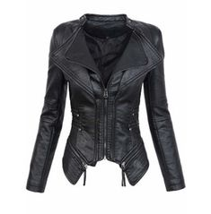 Gothic Black Faux Leather Pu Jacket Women Winter Autumn Motorcycle Jackets Dark Warm Faux Leather Coats Outerwear Coat Black S Black Faux Leather Jacket, Biker Leather, Faux Leather Jackets, Leather Coats, Leather Jackets For Women, Soft Leather, Motorcycle Leather, Short Black Jacket, Vegan Leather