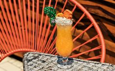 """""""This is a cocktail where I get to poke a bit of fun at my most amazing city and its juice and wellness craze,"""" says Christine Wiseman of the coconut w Cucumber Juice, Juice 2, Lime Juice, Mezcal Cocktails, Edible Glitter, Daiquiri, Fish Sauce, Non Alcoholic, Tequila"""