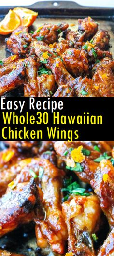 Easy Recipe Hawaiian Chicken Wings - Recipes Made Easy Easy Whole 30 Recipes, Simple Recipes, Spicy Recipes, Cooking Recipes, Healthy Recipes, Family Recipes, Family Meals, Whole 30 Meal Plan, Mother Recipe