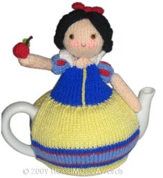 Lady SNOW Tea Cosy pdf EMAIL KNIT Pattern by HandMadeAwards, $4.50