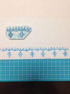 Pyrex snow flake DIY stamp