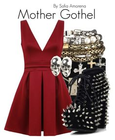 """Mother Gothel"" by sofiaamorena ❤ liked on Polyvore featuring LeiVanKash"