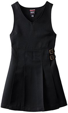 French Toast Big Girls Double Buckle Tab Jumper Black 8 >>> See this great product.