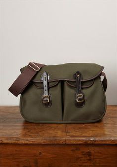 Ariel Trout Bag, Large, Olive Green, by Brady