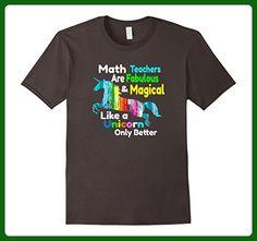 Mens Gift For Math Teachers School Teacher Cute Unicorn Shirt Medium Asphalt - Careers professions shirts (*Amazon Partner-Link)