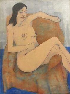 Hana / acrylic,oil,distemper,canvas 120 x 90 cm