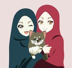 Gambar Kartun Muslimah Memakai Topi Gaul Muslim Anime In 2019